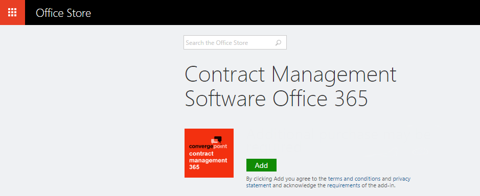 Contract Management Add-In - Microsoft Office 365