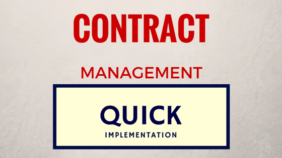Contract Management - Quick Implementation