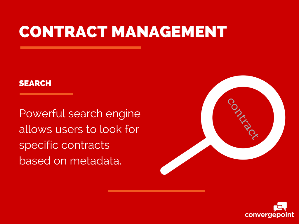 Contract Management Software - Search