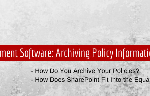 Policy Management Software Template on SharePoint