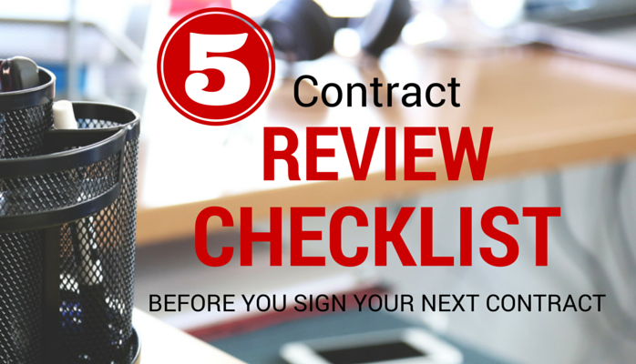 5 Contract Management Review Checklist