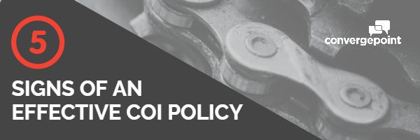 COI five signs of effective coi policy
